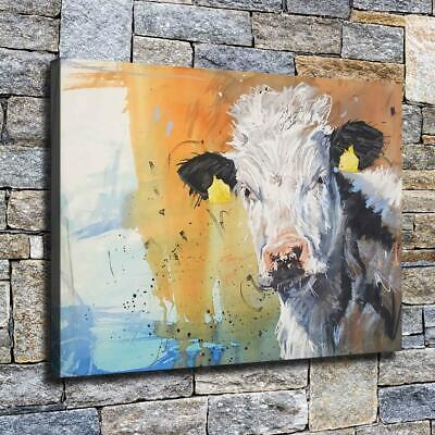 """12""""x16"""" Abstract Cow Painting HD Canvas prints Home decor Room Wall art Pictures"""
