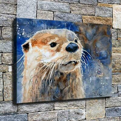 """12""""x18"""" Abstract Otter Paints HD Canvas prints Home decor Room Wall art Pictures"""