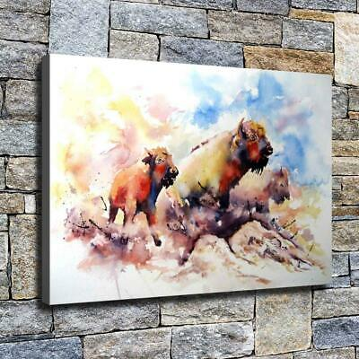 """12""""x18"""" Abstract Three Cows HD Canvas prints Home decor Room Wall art Pictures"""