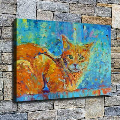 """12""""x18"""" Abstract Cat Painting HD Canvas prints Home decor Room Wall art Pictures"""