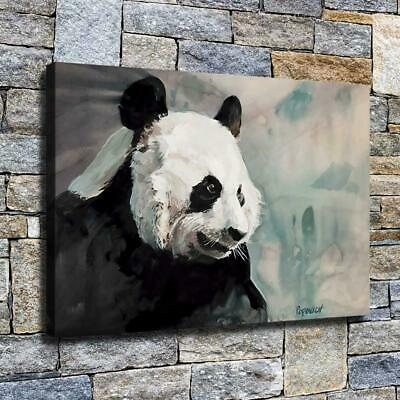 "12""x18"" Panda Side Face Paint HD Canvas prints Home decor Room Wall art Pictures"