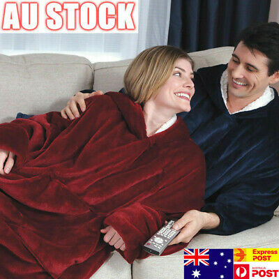 Blanket Hoodie Ultra Plush Huggle Fleece Warm Super Soft Coat Outdoor Home Suit