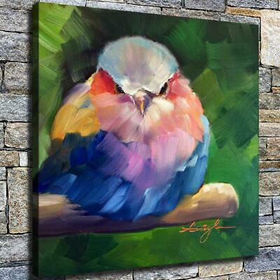 "12""x12"" Round Bird Paintings HD Canvas prints Home decor Room Wall art Pictures"
