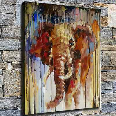 "12""x14"" Abstract Elephant Photo HD Canvas prints Home decor Room Wall art Poster"