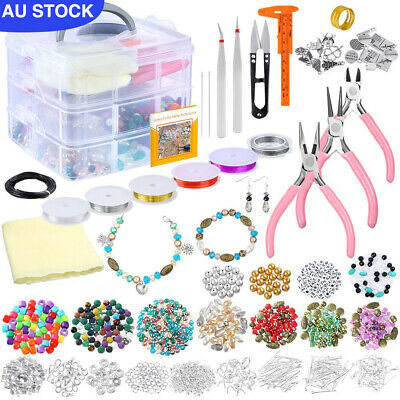Deluxe Jewelry Making Supplies Kit for Necklace/Bracelet/Earrings DIY Making AU