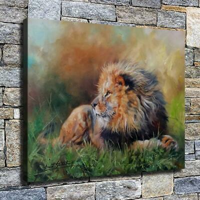 """12""""x16"""" Handsome Lion Painting HD Canvas prints Home decor Room Wall art Picture"""