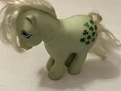 1982 G1 My Little Pony FF Flat Foot Collector Pose Minty Green Clover