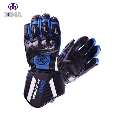 XIMA Motorcycle Race Gloves Carbon Fiber Armored Gauntlet Motorbike Powersports