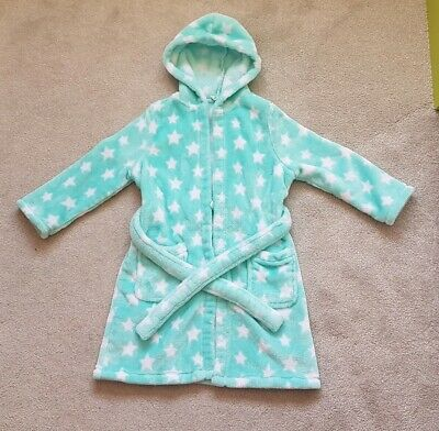 Girls Green Dressing Gown M&S Marks & Spencer 3-4 Years