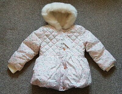 BNWT Girls Ditsy Floral Winter Coat Jacket Mothercare 4-5 Years RRP £30