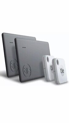 New 2020 Tile Mate + Slim Bluetooth Tracker - 4 pack