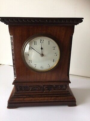 Small Antique French 8 Day Brass Movement With Platform Escapement Mantel Clock