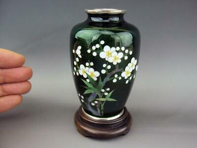 High Quality IMPRESSIVE Japanese Vintage Oriental Cloisonne Enamel Vase - Marked