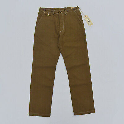 BOB DONG Casual Twill Chino Vintage Style Men's Pants With Suspender Buttons