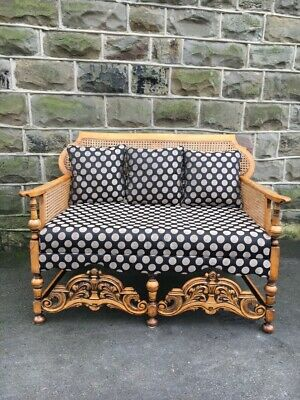 Antique Bergere Upholstered Sofa