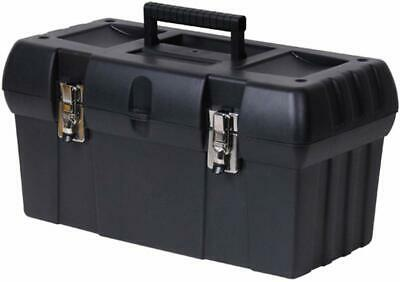 """Stanley 19"""" Black Tool Box with Portable Tray"""