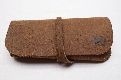 Born in Brooklyn Leather Sunglasses Eyeglasses Case Wrap Pouch Brown USA