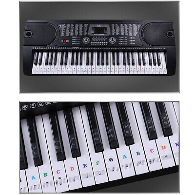 37/49/54/61/88Key Music Keyboard Piano Sticker Set Removable Note Label Portable