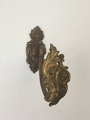 Single Antique French Bronze Curtain Tieback Stamped DH 155 (BC)