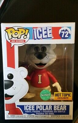 FUNKO POP! AD ICONS ICEE POLAR BEAR GRAPE Scented  Hot Topic Exclusive Mint