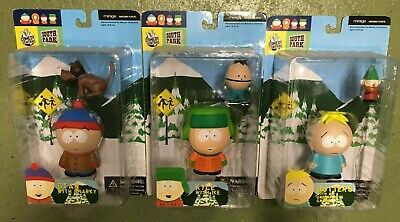 Mirage 2004 South Park Figures Lot of 3 Kyle, Stan and Butters Comedy Central