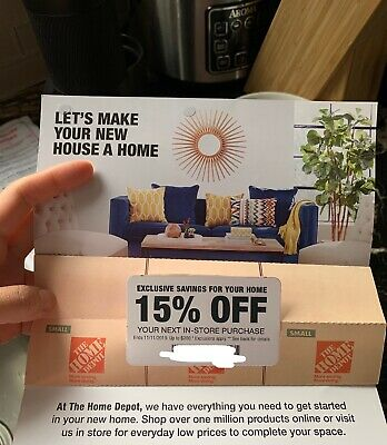 Home Depot 15% off / up to $200 off entire bill In Store 100 % Trusted Seller