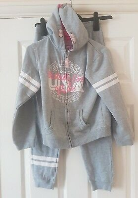 """LOVE Young Dimension """"Girl Grey Westside Girls Rule"""" Tracksuit Size 9-10 Yrs"""