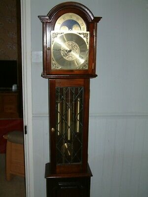 8 Day triple chime Weight Driven Grandmother Clock made by fenclocks of suffolk