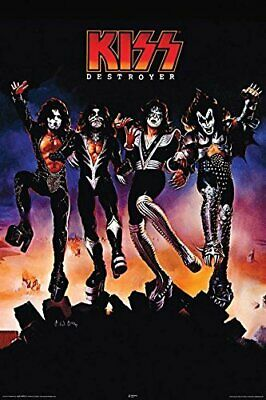 KISS DESTROYER HEAVY METAL ROCK MUSIC POSTER Original Paper Poster 24x36 inch