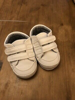 Mothercare Shoes -boys Trainers White Size 1/ 3/6 Months