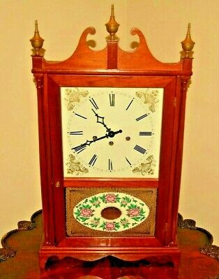 Vintage FRANZ HERMLE Tall Mahogany Pillar Scroll Clock Richard Haviland Carleton