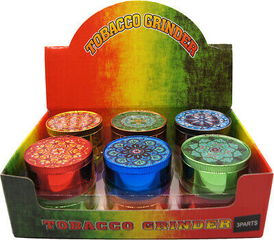 "1.9"" Aluminum Grinder 4 PC Tobacco Herb Spice Grinder Candy Colors"