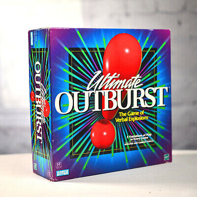 ULTIMATE OUTBURST Game Verbal Explosions 1999 Board Game Parker Brothers