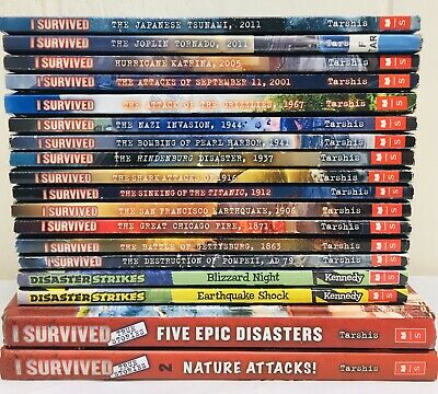 Lot of 18 I SURVIVED Series Set of Chapter Books for Ages 8-12