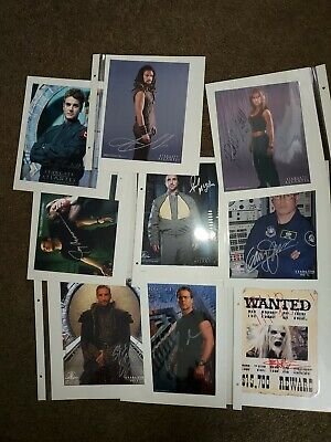 Lot of 26 Stargate SG1 Atlantis Autograph Collection Some with COA