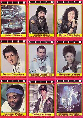 Alien the Movie - Complete 84 Card Set - 1979 Topps - NM