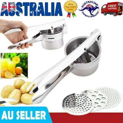 Stailess Steel Kitchen Potato Ricer Masher Fruit Vegetable Press Maker Tools