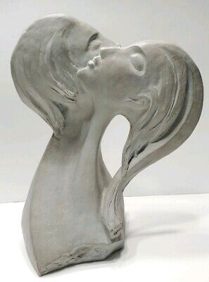 1980 Austin Productions Inc David Fisher Faces of Love sculpture art signed!