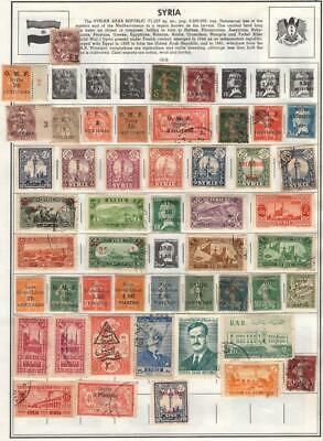 1¢ Wonder's ~ French Colony Syria M&U Small Lot On Page All Shown ~ Z635