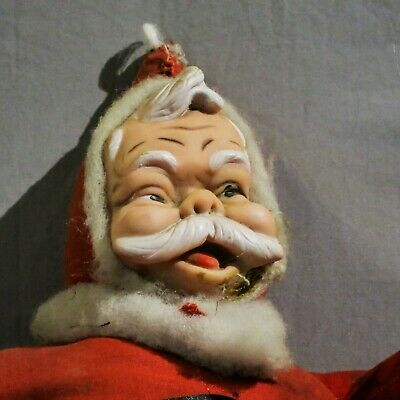 Antique/vintage character cloth abd rubber Santa Doll