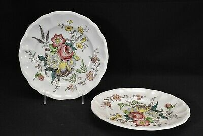 Spode Gainsborough S245 Pair of Luncheon Plates