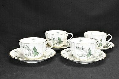 Royal Worcester Valencia Set of 4 Cups & Saucers
