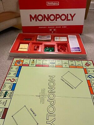 Red Monopoly Board Game by Waddingtons pretty old