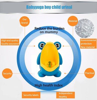 Cute Frog Shaped Kid Baby Potty Toilet Training Urinal Boys Pee Trainer D~