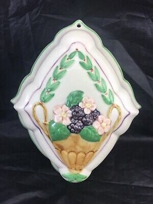 Vintage Decorative Ceramic Jelly Mould Wall Hanging.