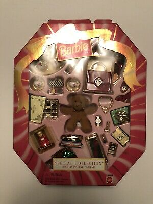 """NRFB Mattel Special Collection """"Holiday Presents Gift Set"""" BARBIE'S"""