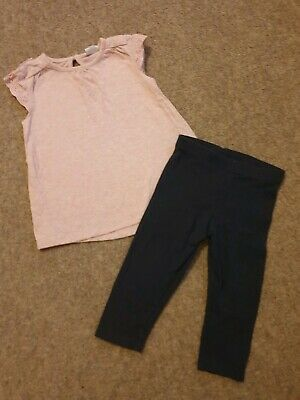 Baby Girls Outfit Age 6-9months NEXT & F&F Leggings And Top