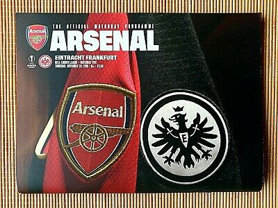 Arsenal - Eintracht Frankfurt - 28.11.2019 - UEFA Europa League - Program