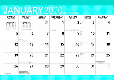 Large Print 2020 Desk Pad Calendar by Browntrout Free Post