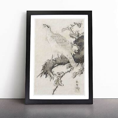 Eagle Flowers Floral Asian Bird Hashimoto Gaho Wall Art Framed Picture Print